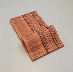 BLOQUES 1000 TICKETS CODIGO BARRAS  1000 TICKET/ COLOR  PACK DE 6 COLORES